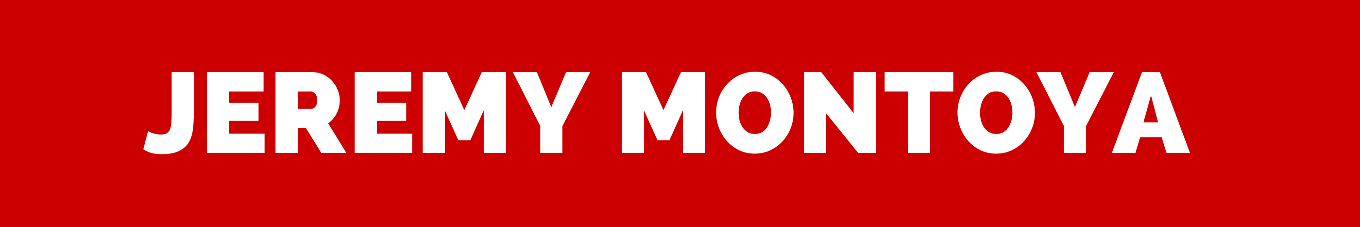 Jeremy Montoya header image